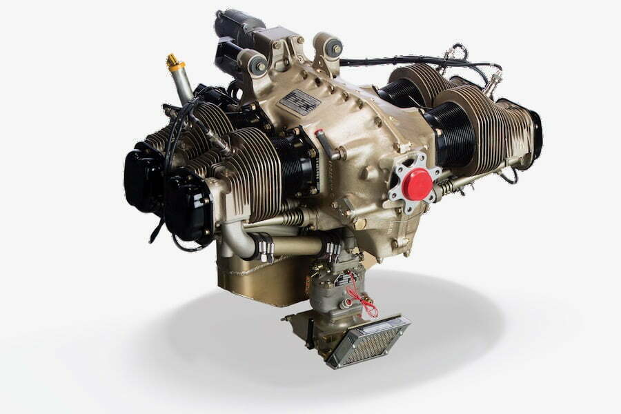 Continental_200_Avgas_Aircraft_Piston_Engine_Top View